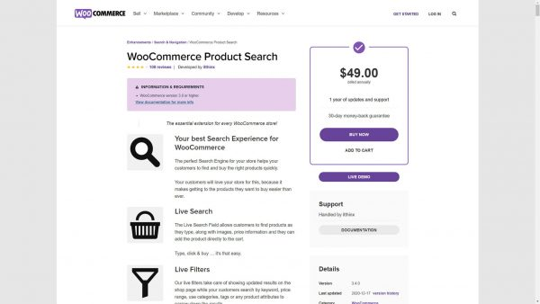 Download WooCommerce Product Search