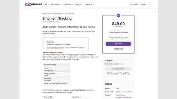 Download WooCommerce Shipment Tracking